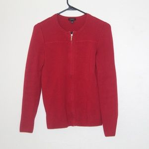 Talbots red zip up sweater size XS